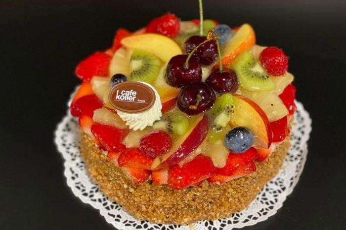 Fruchttorte Biskuit 5 Personen | Cafe Koller AG