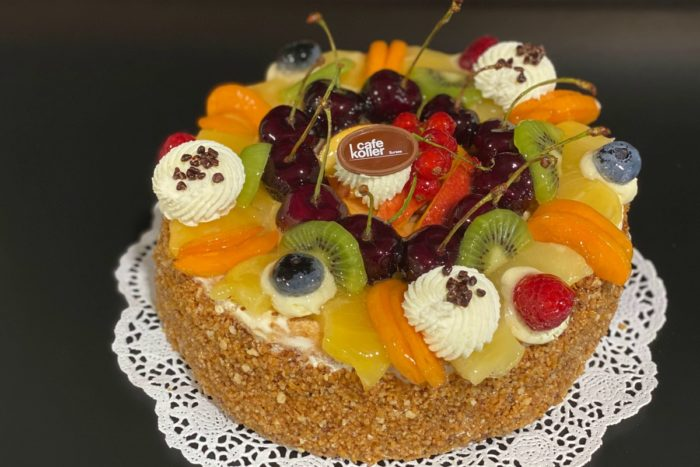 Fruchttorte Biskuit 10 Personen   Cafe Koller AG