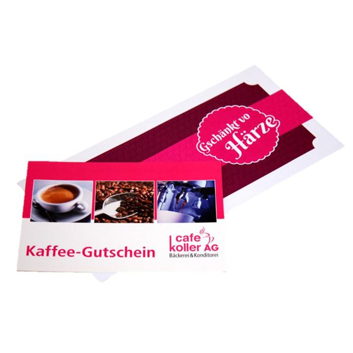Kaffee Gutschein | Cafe Koller AG